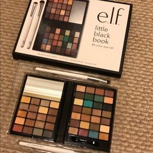 elf cosmetics palette with brushes